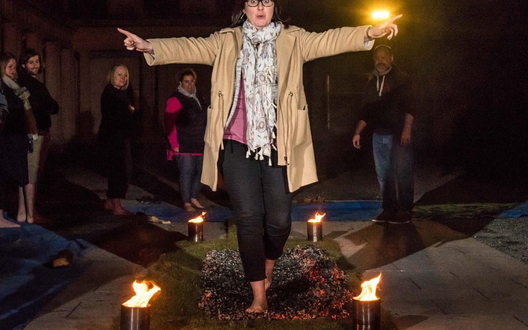 What does it feel like to walk on hot coals?