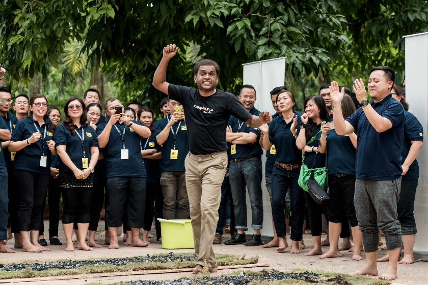 Firewalking: When East Meets West